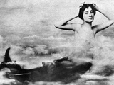 Nude As Mermaid, 1890S Photographic Print