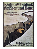 WWI: German Poster, 1917 Giclee Print by Lisa von Schauroth