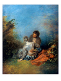 Watteau: False Step, C1717 Giclee Print by Antoine Watteau