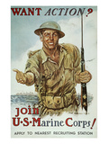 WWII Recruiting Poster Giclee Print by James Montgomery Flagg
