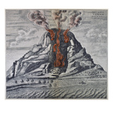 Mount Vesuvius, 1665 Posters