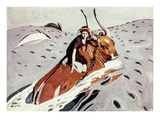 Rape Of Europa Prints by Valentin Serov