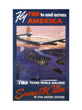 Trans-World Airlines 1950S Giclee Print