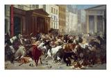 Wall Street: Bears & Bulls Giclée-tryk af William Holbrook Beard