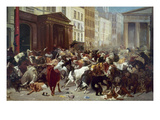 Wall Street: Bears & Bulls Impressão giclée por William Holbrook Beard
