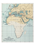 Map: Phoenician Empire Giclee Print