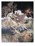 Spirits In Sleepy Hollow Giclee Print by Arthur Rackham