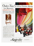Majestic Radio Ad, 1929 Giclee Print