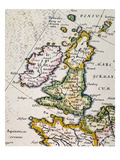 Map Of Great Britain, 1623 Giclee Print by Gerard Mercador