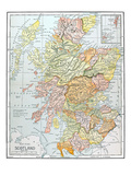 Map: Scotland Giclee Print