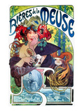 Beer Ad By Mucha, C1897 Posters by Alphonse Mucha