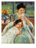 Cassatt: Mother Sewing Poster by Mary Cassatt