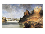 View Of The Stone Walls Giclee Print by Karl Bodmer