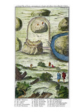 Rome: Seven Hills, 18Th C Giclee Print