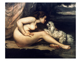 Courbet: Nude W/Dog, 1861 Posters by Gustave Courbet