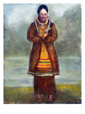 Kateri Tekakwitha Giclee Print by Claude Chauchetiere