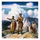 Wyeth: Sacajawea Print by Newell Convers Wyeth