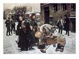 Henningsen:  Evicted, 1890 Giclee Print by Erik Henningsen