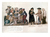 French Revolution, 1795-96 Prints by Pierre-Etienne Le Sueur