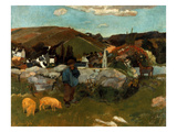 Gauguin: Swineherd, 1888 Giclee Print by Paul Gauguin