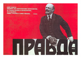 Pravda: Communist Poster Giclee Print by Viktor Savchenko