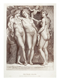 Three Graces Giclee Print by Peter Paul Rubens