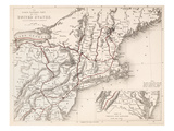 Map: Northeast U.S.A Giclee Print