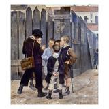 Bashkirtsev: Meeting, 1884 Giclee Print by Maria Konstantinova Bashkirtseva