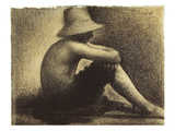 Seurat: Seated Boy, 1883-4 Giclee Print by Georges Seurat