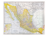 Map: Mexico Giclee Print