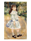 Renoir: Girl/Hoop, 1885 Giclee Print by Pierre-Auguste Renoir