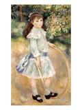 Renoir: Girl/Hoop, 1885 Poster by Pierre-Auguste Renoir
