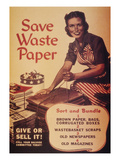 WWII: 'save Waste Paper' Prints