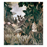 Rousseau: Jungle, 1909 Giclee Print by Henri Rousseau