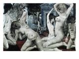 Delvaux: Women, 1968 Posters by Paul Delvaux