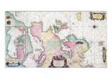 Map: European Coasts, 1715 Giclee Print by Louis Renards