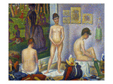 Seurat: Models, C1866 Giclee Print by Georges Seurat