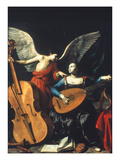 St. Cecilia And The Angel Premium Giclee Print by Carlo Saraceni