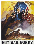 World War Ii Bond Poster Giclee Print by Newell Convers Wyeth