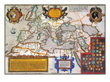Map Of The Roman Empire Premium Giclee Print by Abraham Oertel