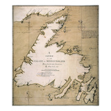 Cook: Newfoundland, 1763 Giclee Print by James Cook