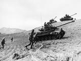 Korean War: Infantrymen Photographic Print