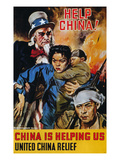 WWII Poster: &quot;Help China&quot; Giclee Print by James Montgomery Flagg