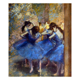 Degas: Blue Dancers, C1890 Posters by Edgar Degas