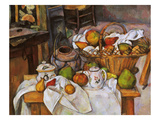 Cezanne: Table, 1888-90 Reproduction procédé giclée par Paul Cézanne