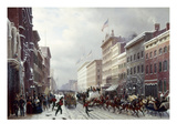 New York: Broadway, 1855 Giclee Print by Hippolyte Victor Valentin Sebron