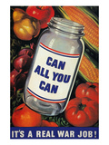 WWII: 'Can All You Can' Giclee Print