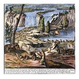 Niagara Falls: Beavers, 1715 Giclee Print