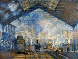 Monet: Gare St-Lazare, 1877 Print by Claude Monet