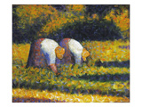 Seurat: Farm Women, C1882 Giclee Print by Georges Seurat